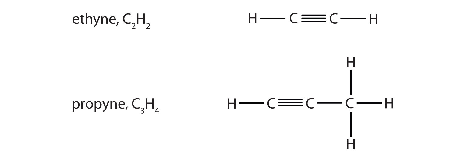 Ethyne Condensed Structural Formula Ethyne is more commonly called