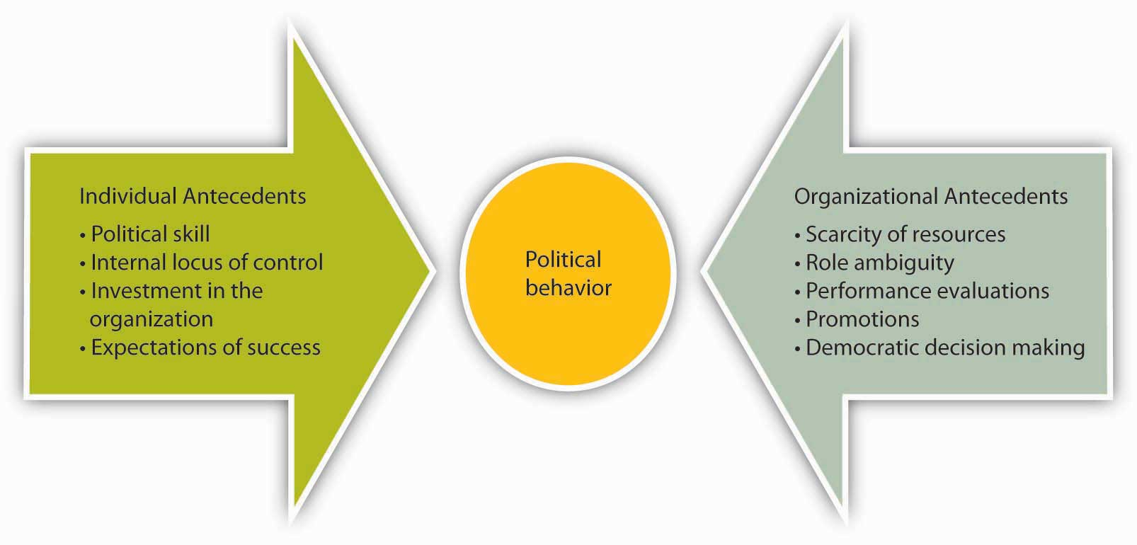 organizational behavior flatworld individual and organizational antecedents can both lead to political behavior
