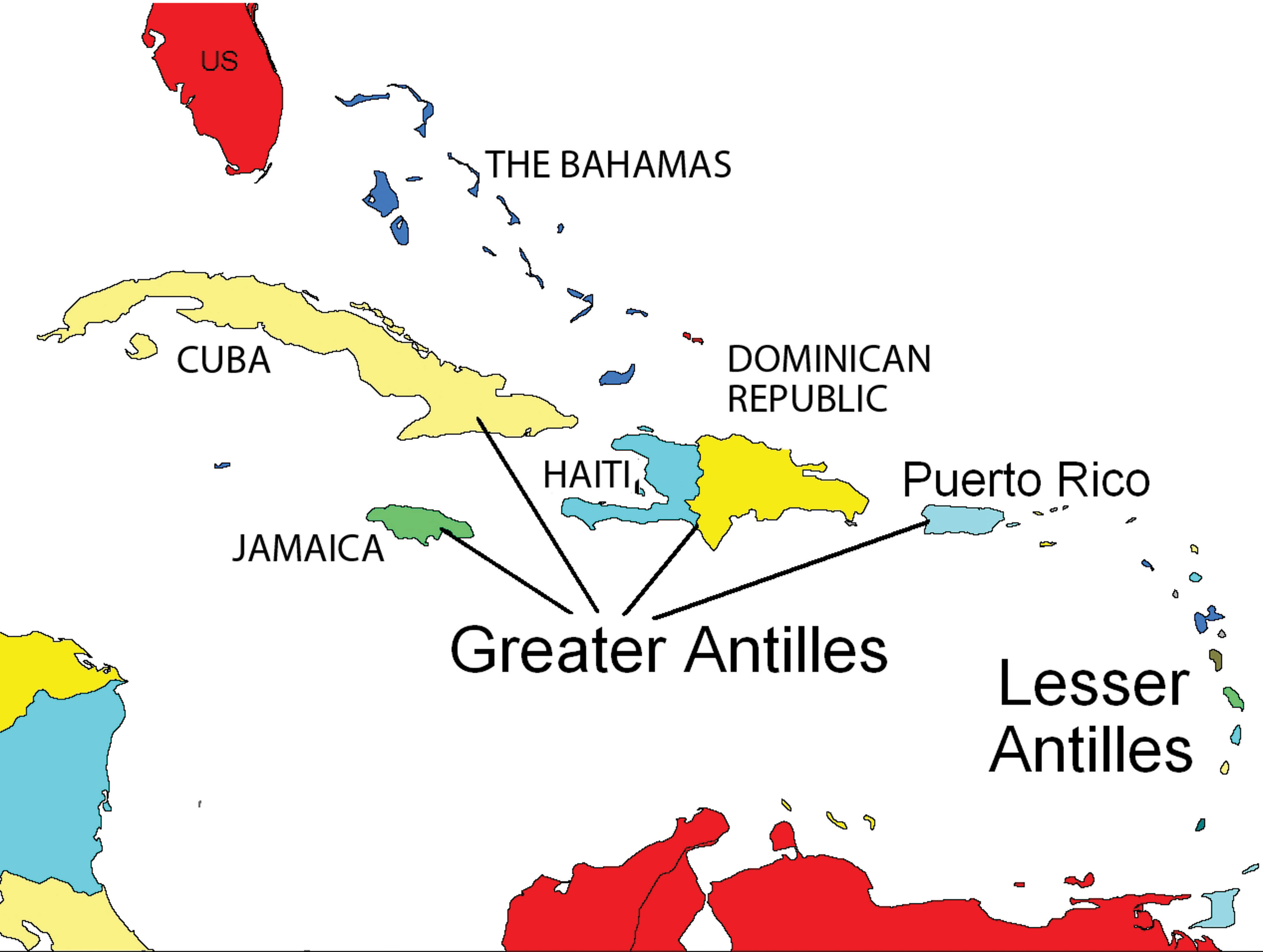 Greater Antilles Map | World Map 07