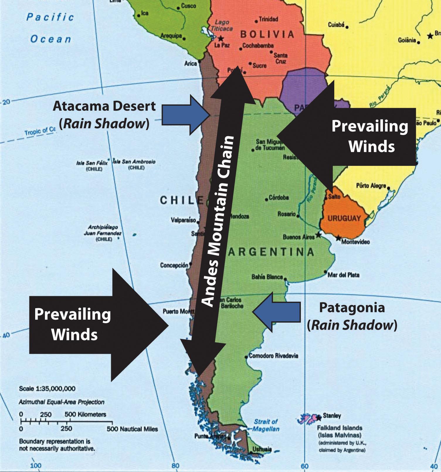 South America Atacama Desert Map