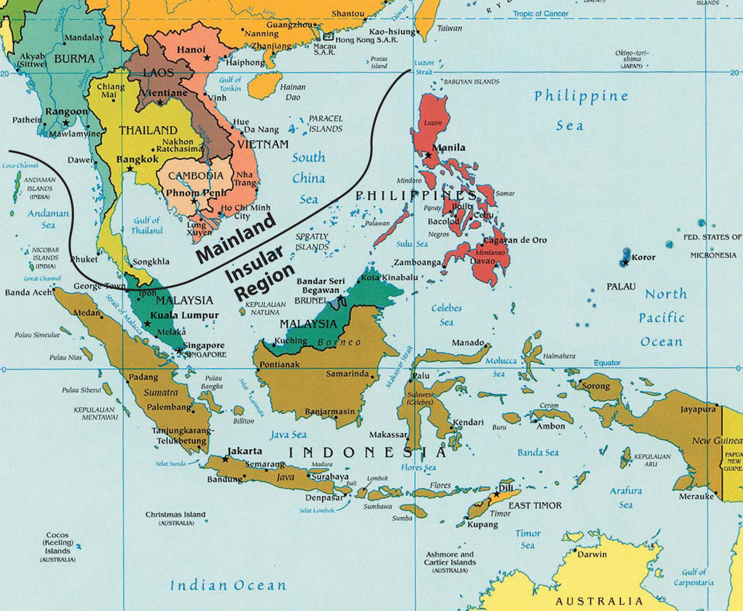 Figure 11.1 Southeast Asia: