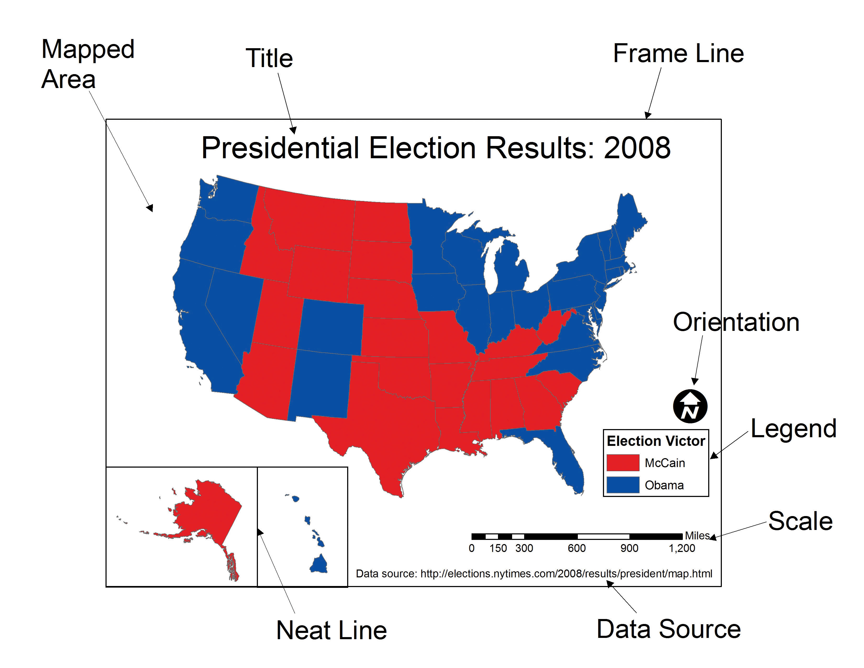 Essentials Of Geographic Information Systems FlatWorld - 2008results us elections map