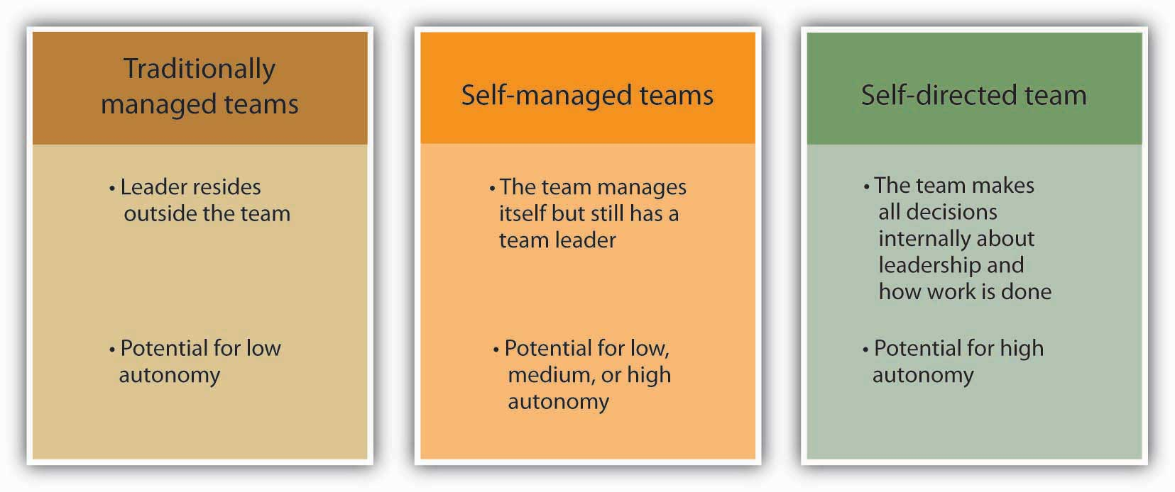 a description of the effective leadership of self managing work teams Management lesson 3 (ch 14) - managing teams  d high-performance work teams e self-designing teams c  is the most effective strategy for teams of the future.
