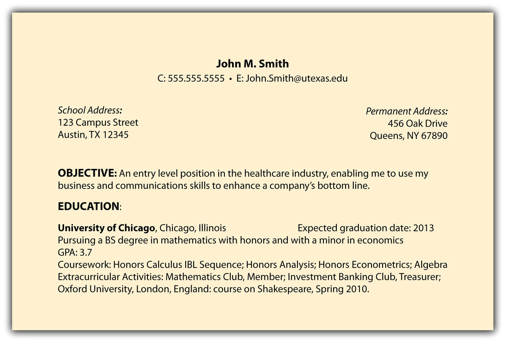 ... field. Resume Styles Reverse Chronological Resume: ... Access Document