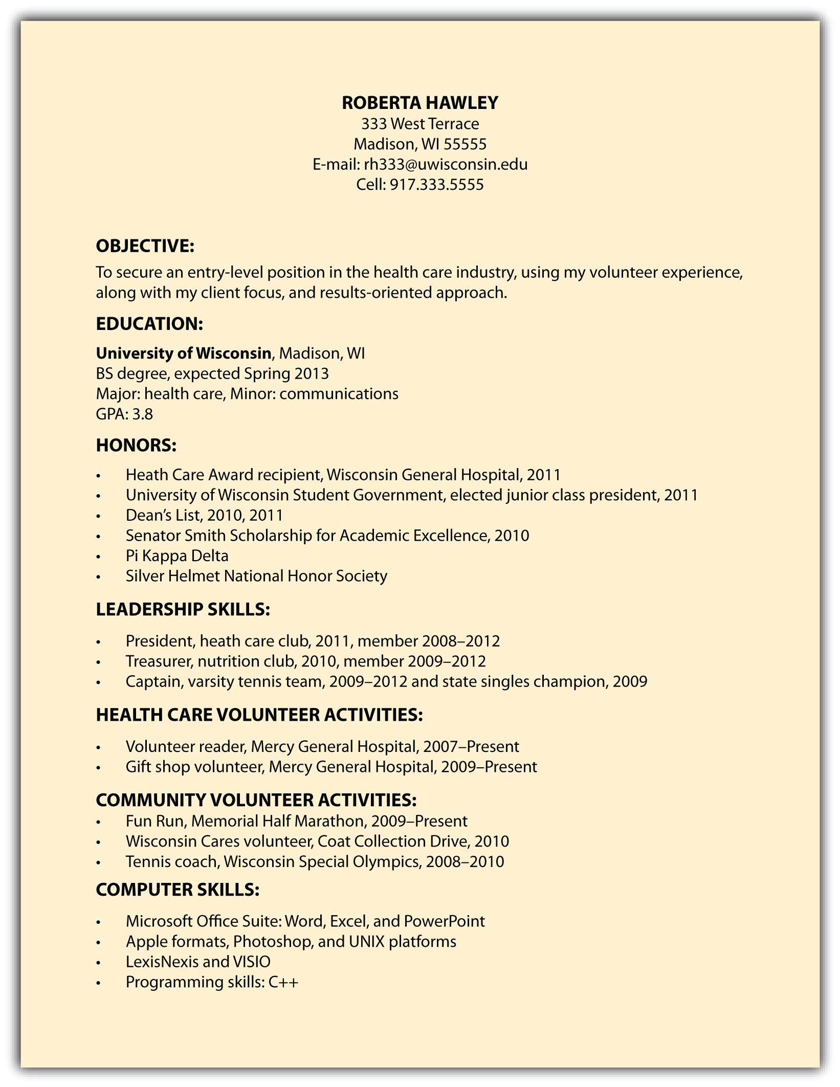 Doc.#8331077: Resume Objective Examples for Students – Good Resume ...