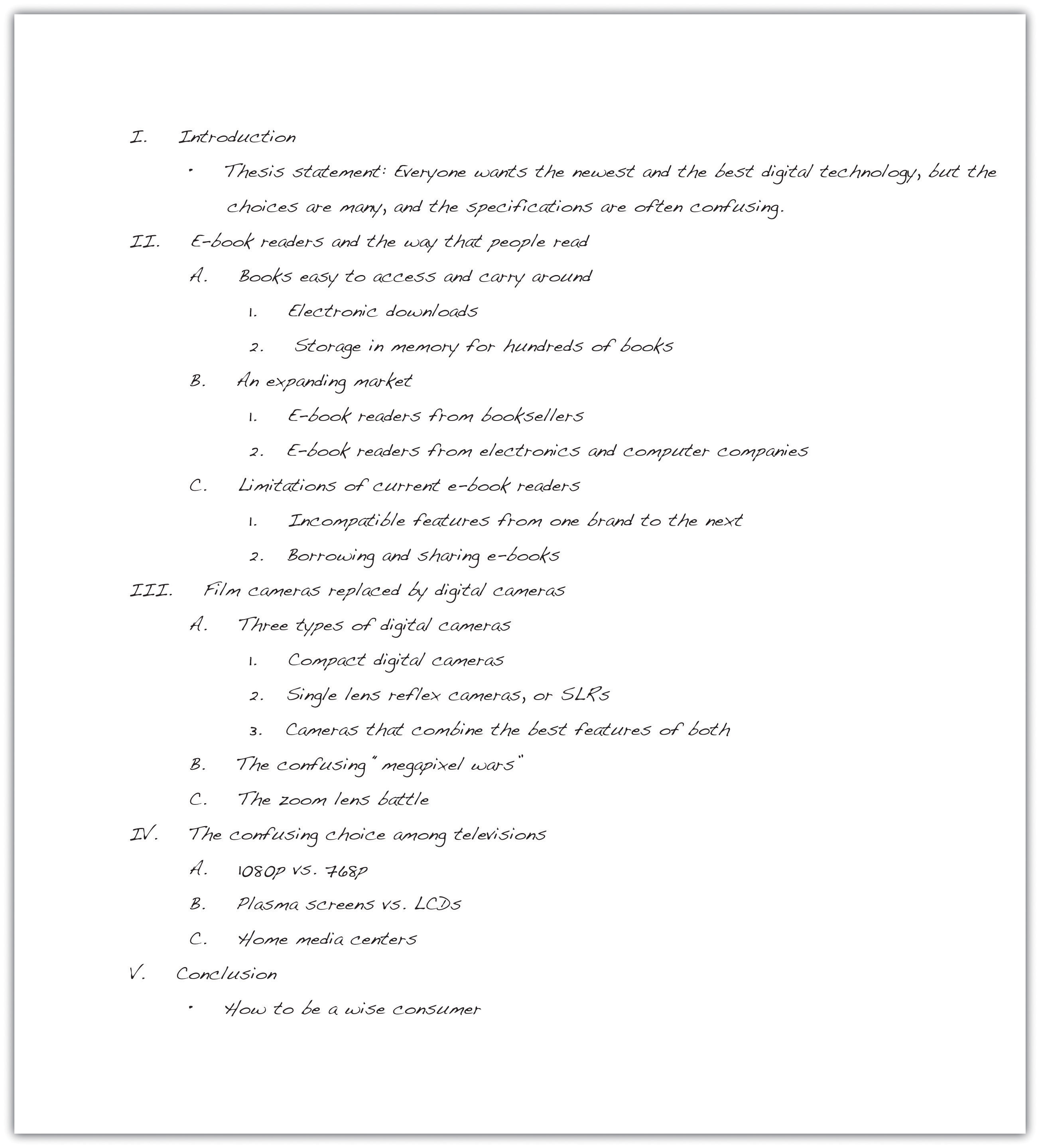 Sample Essay Outline