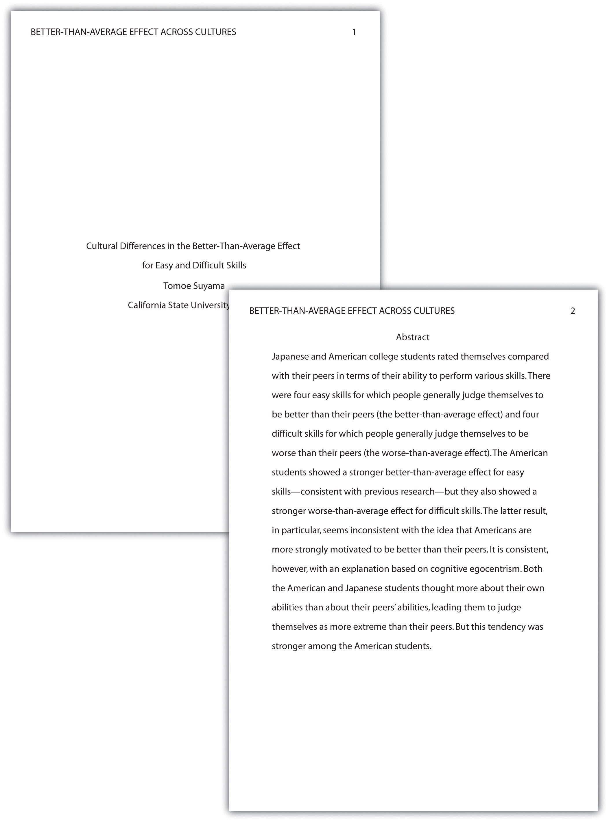apa essay format sample apa style sample papers th and th edition
