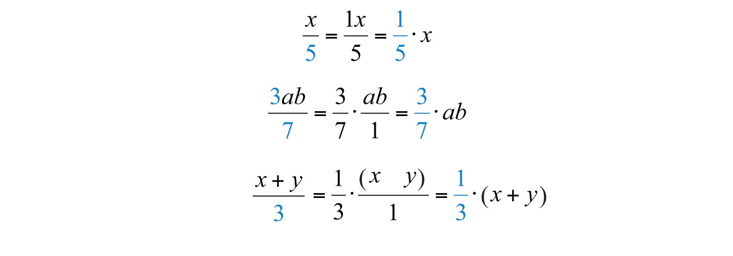 Rewriting algebraic expressions as products allows us to apply the ...