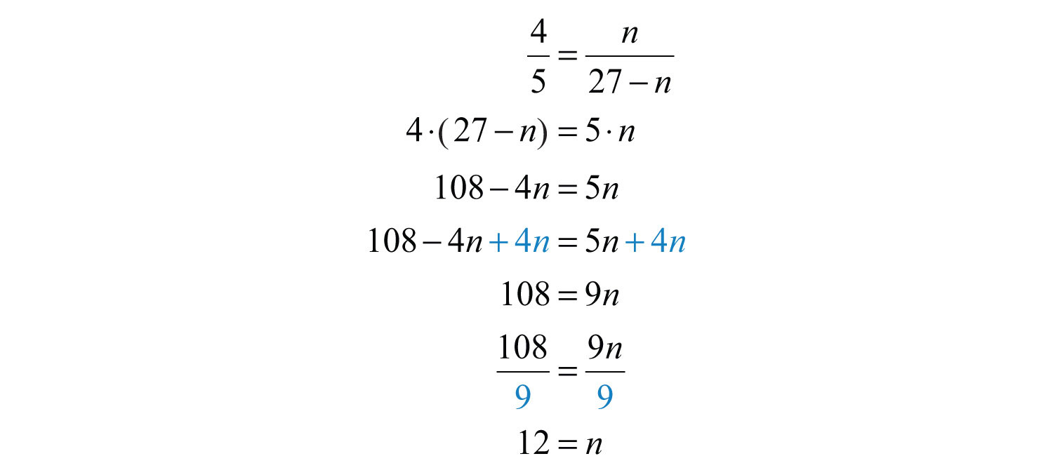 The Integers Are Given To Be In The Ratio Of 4 To 5 Set Up The