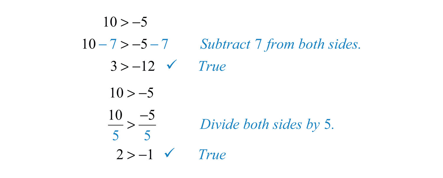 You May Add Or Subtract Any Real Number To Both Sides Of An Inequality, And  You May Multiply Or Divide Both Sides By Any Positive Real Number To Create