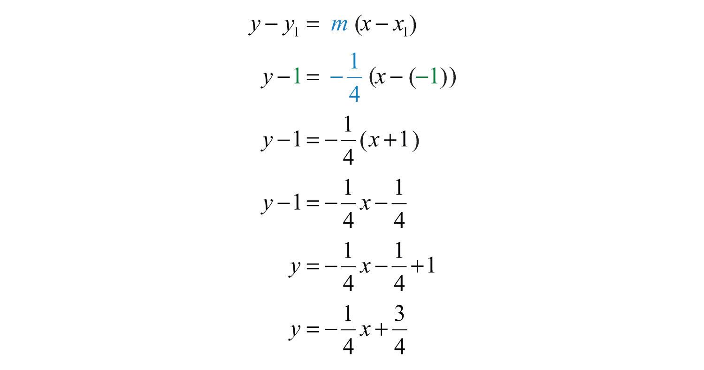 Answer: Y=−14x+34