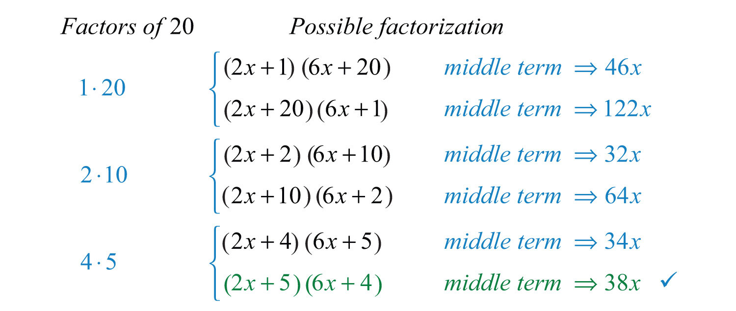 Here The Lastbination Produces A Middle Term Of 38x