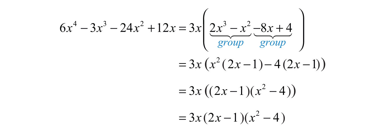 Now Factor The Resulting Fourterm Polynomial By Grouping