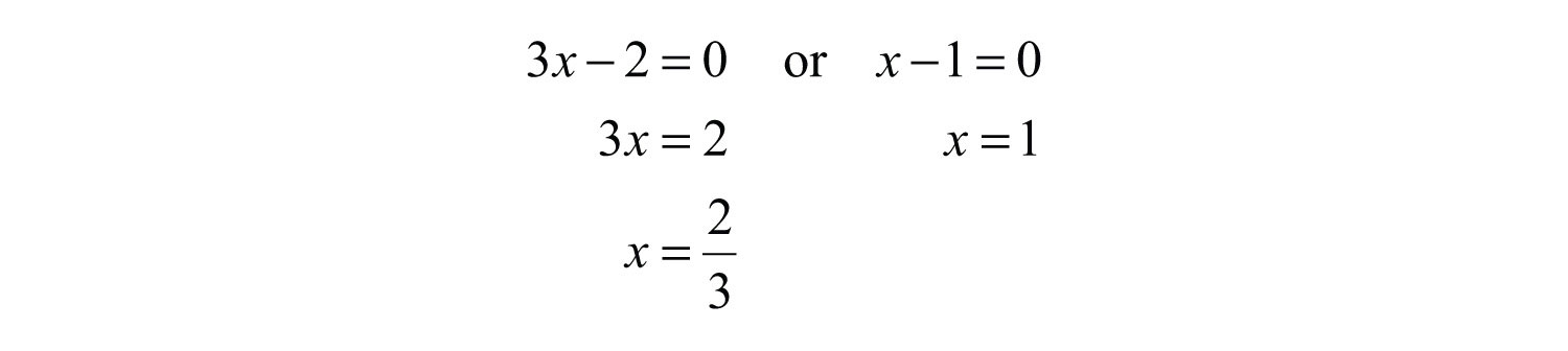 Solving For X. to zero and solve for x.