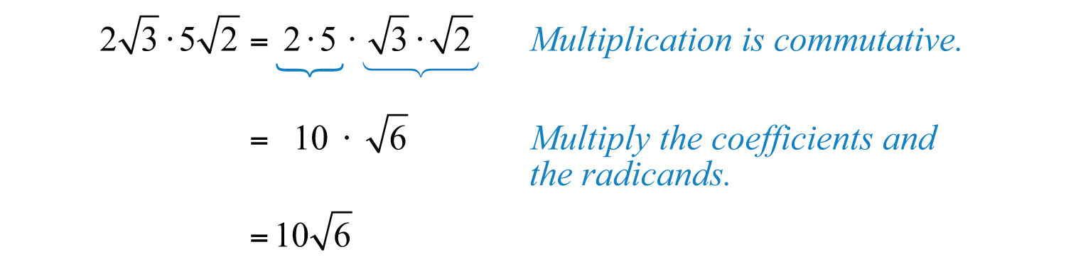 Elementary Algebra 10 – Multiplication of Radicals Worksheet