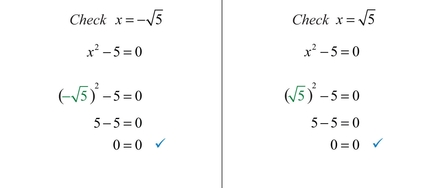 Forpleteness, Check That These Two Real Solutions Solve The Original  Quadratic Equation Generally, The Check Is Optional
