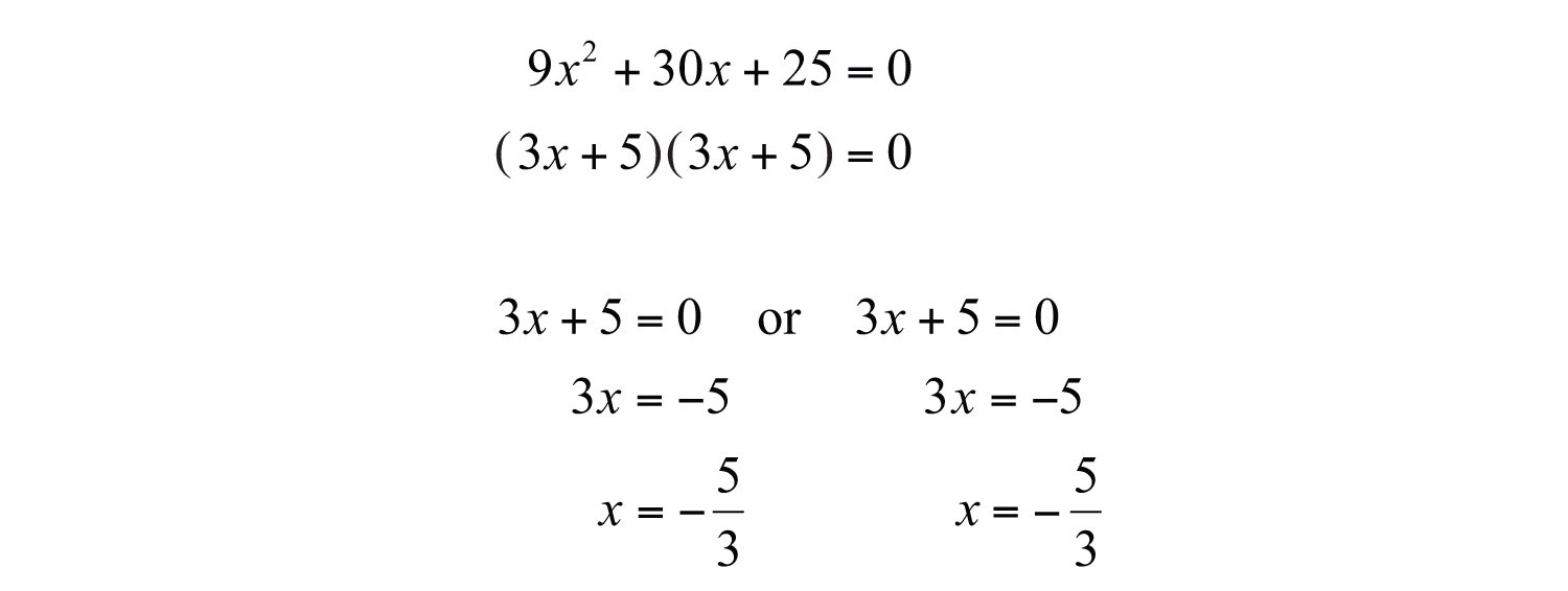 Since The Discriminant Is 0, Solve By Factoring And Expect One Real  Solution, A Double Root