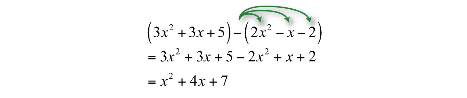Elementary Algebra 10 – Subtracting Polynomials Worksheet