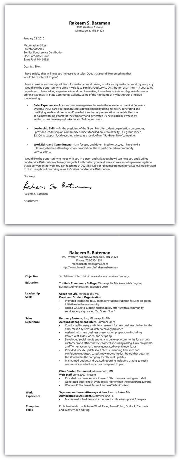 how to make a cover letter for a resume examples