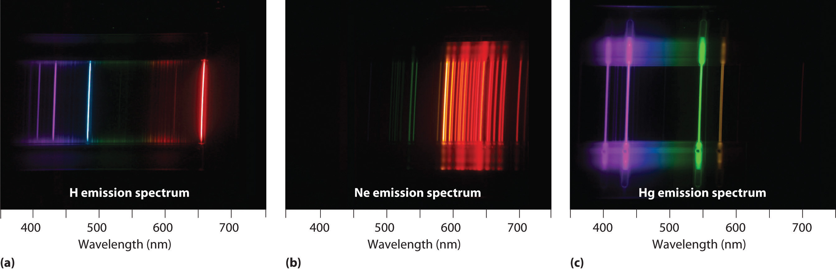 emission spectrum As far as i know, there shouldn't be any differences between the actual wavelengths on either spectrum an emission spectrum shows the spectral lines of light that an element is able to release.