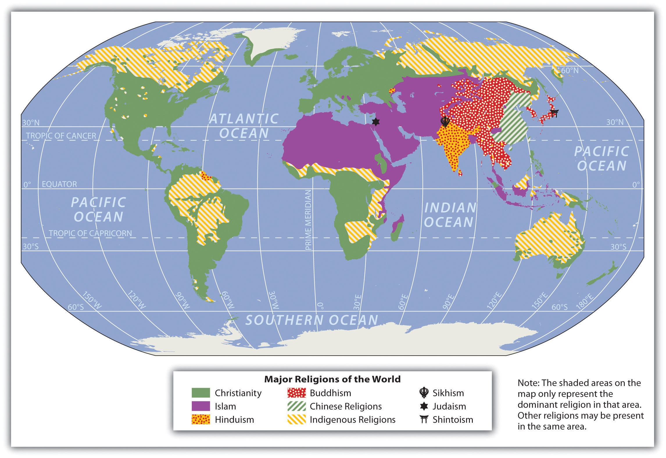 World Regional Geography People Places And Globalization - Religious diffusion maps us