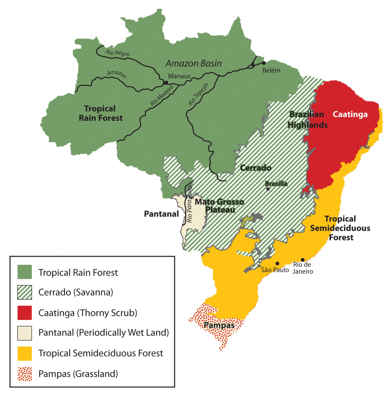 Map Of Brazil S Natural Resources