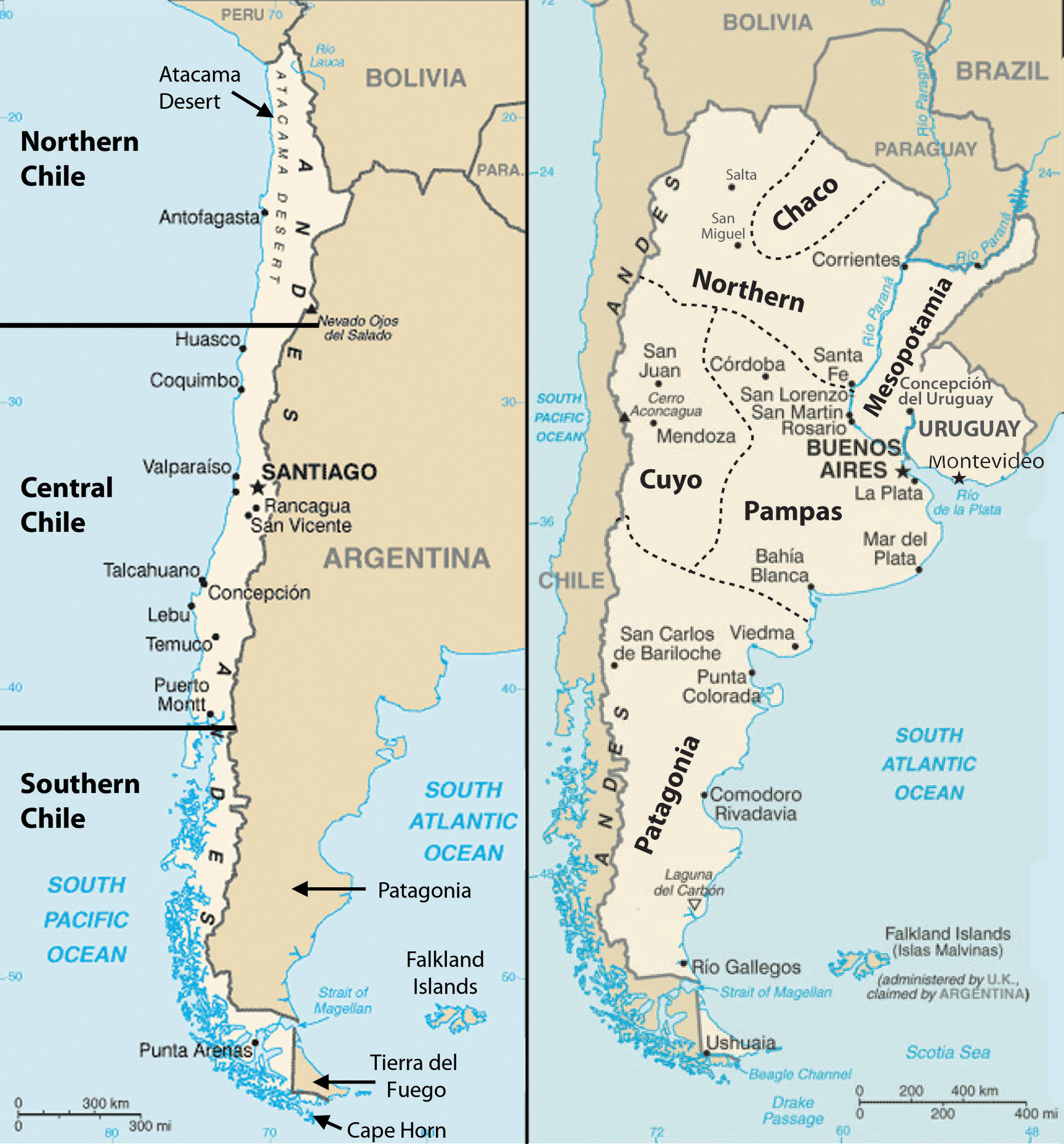 World Regional Geography People Places And Globalization - Chile regions map