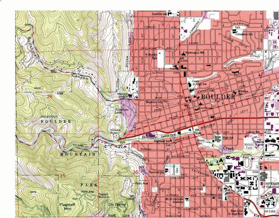 Essentials Of Geographic Information Systems 20 Flatworld: Colorado Map Usgs At Usa Maps