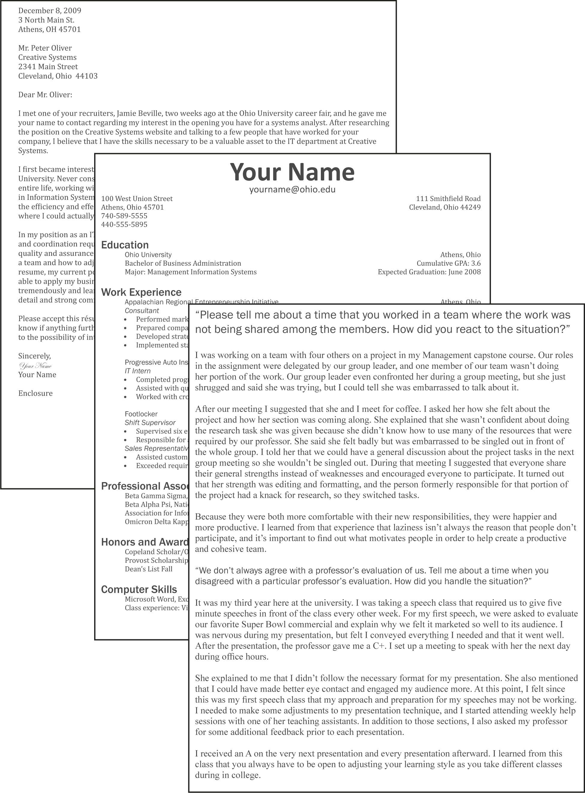L3 Assignment: Resume, Cover Letter, And Interview