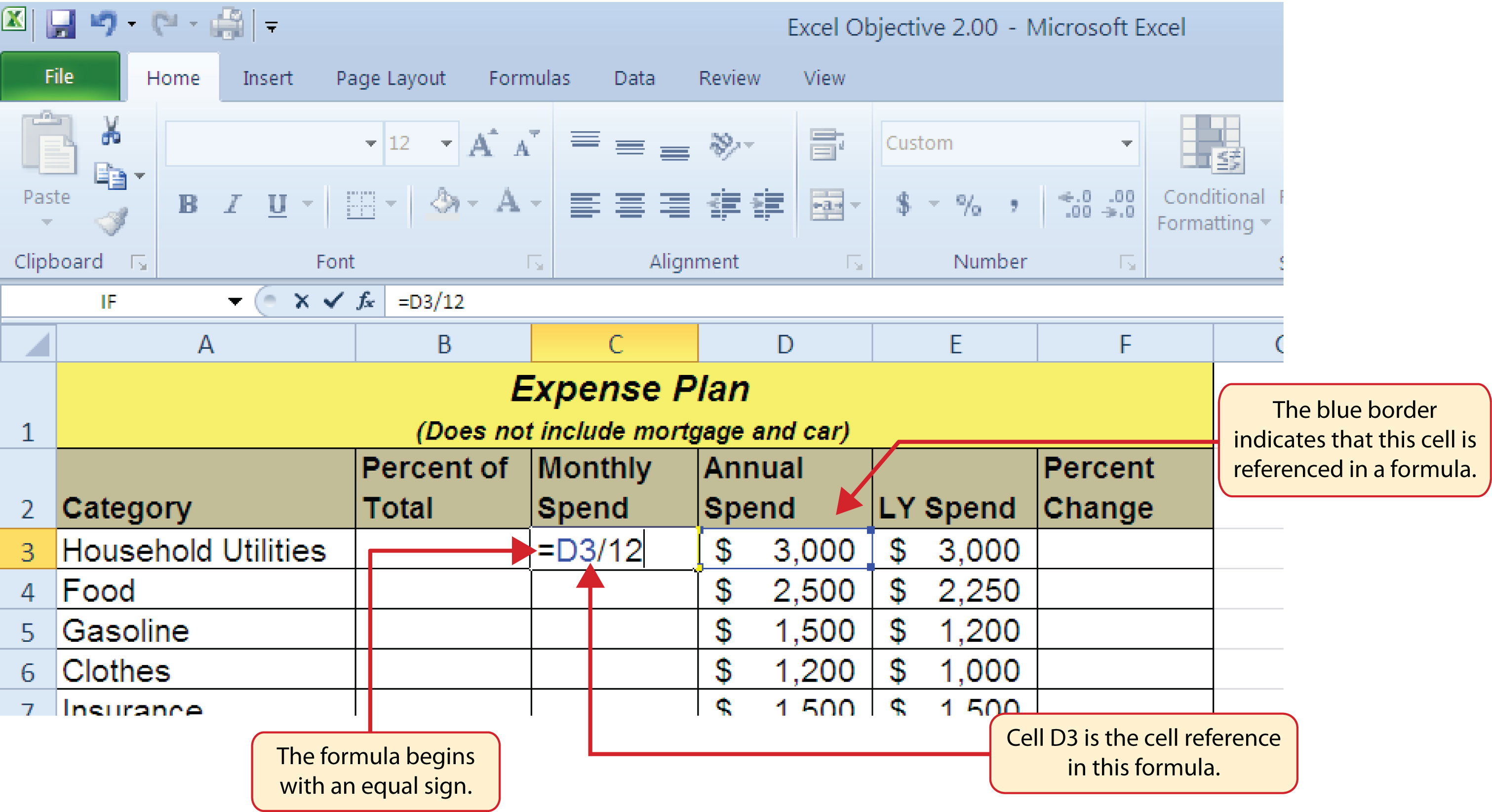 How to use microsoft174 excel174 the careers in practice figure 23 adding a formula to a worksheet robcynllc Choice Image