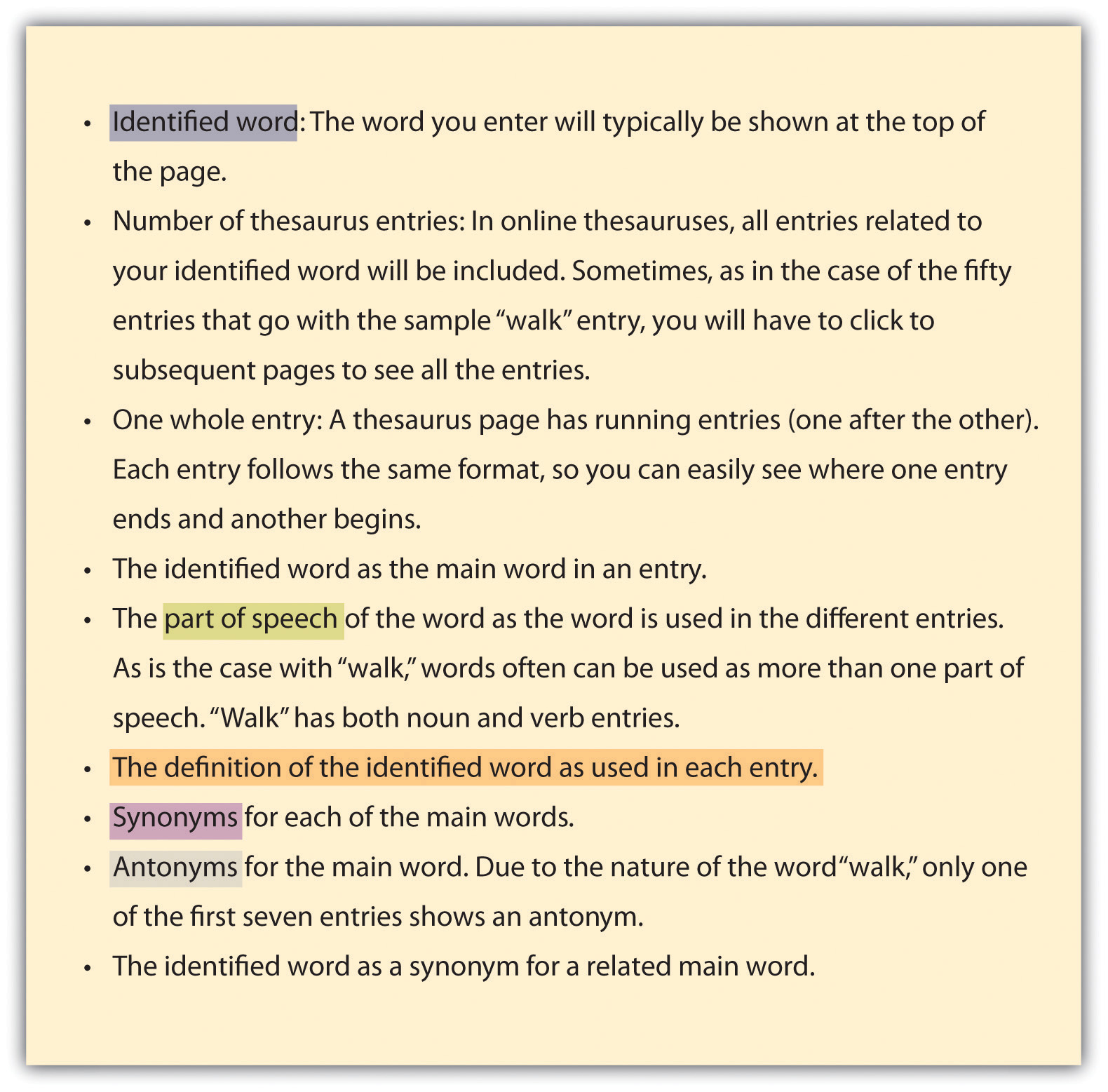 Wordsmith thesaurus