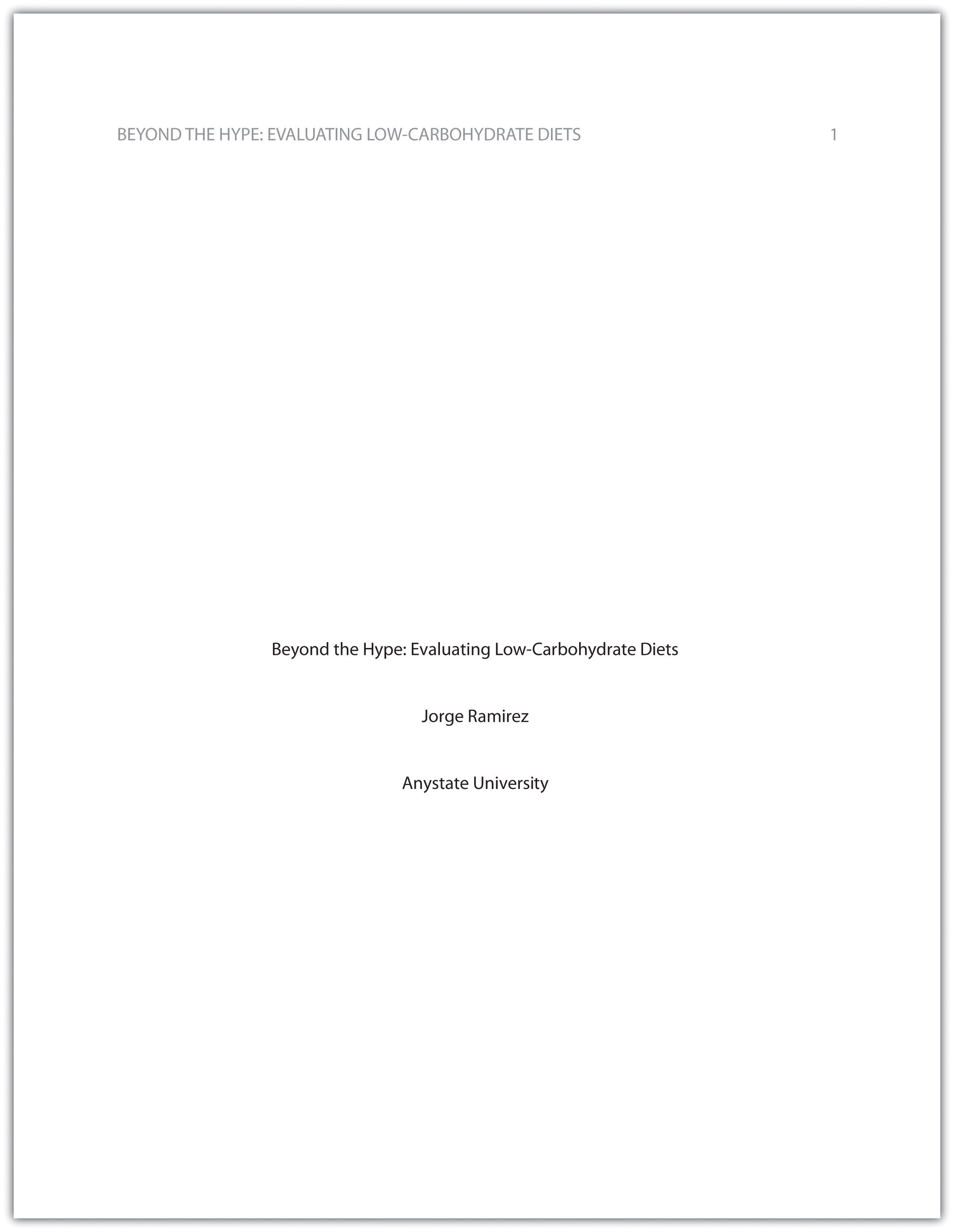 Apa abstract page template