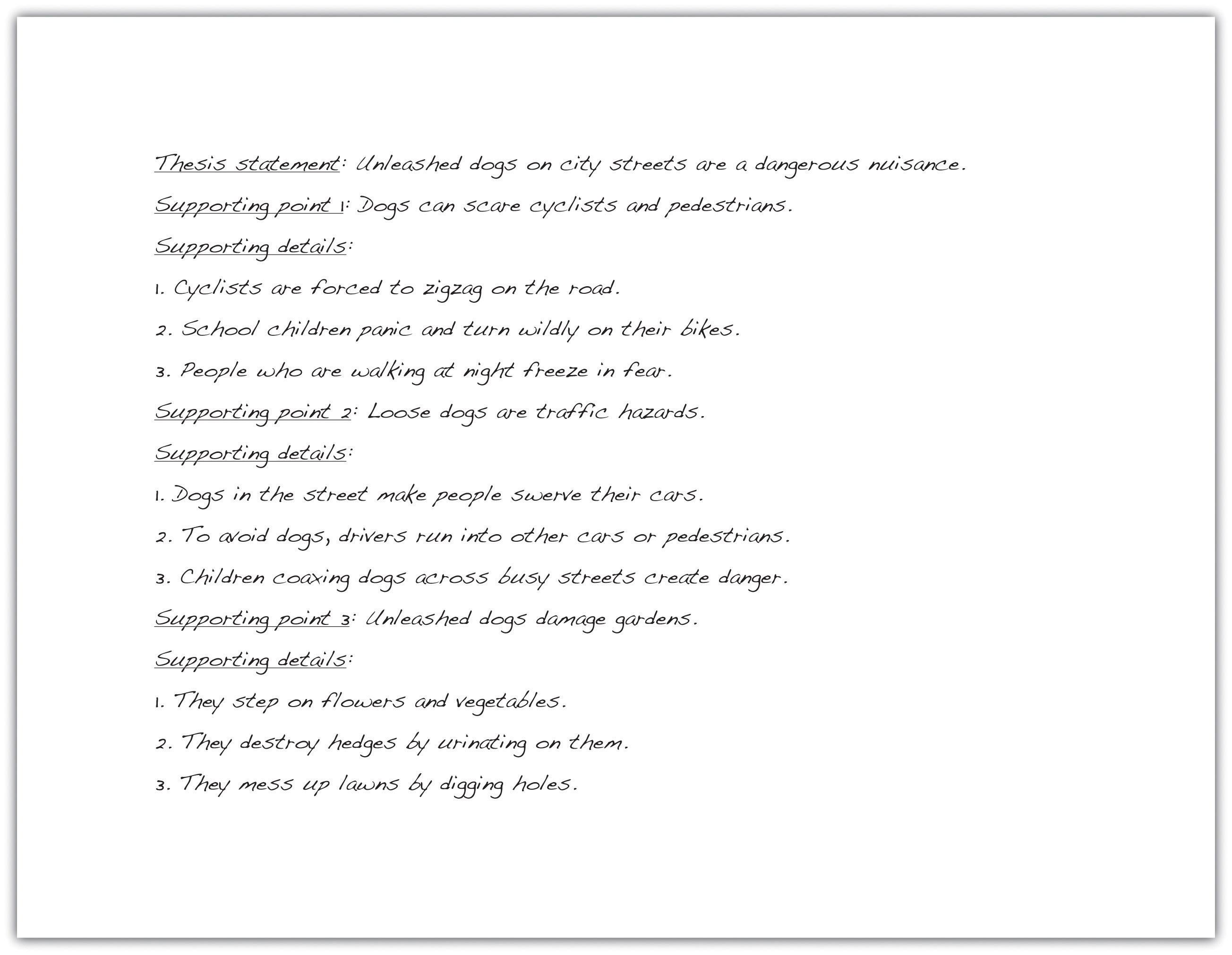 writing for success flatworld draft supporting detail sentences for each primary support sentence