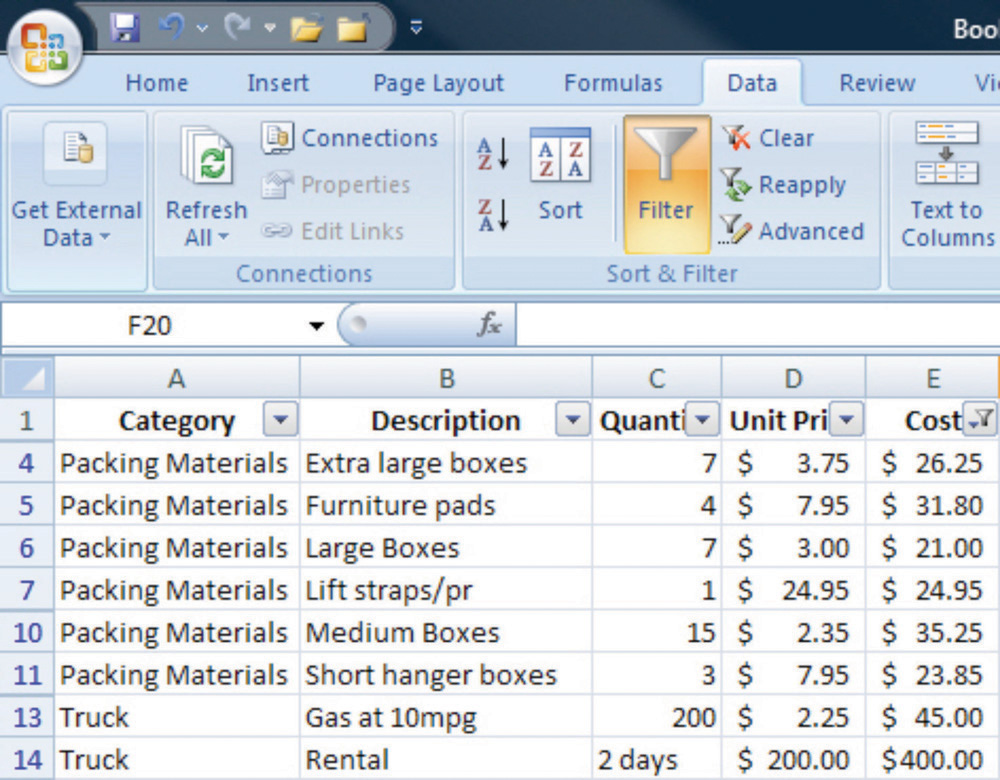 example of data dictionary in project management