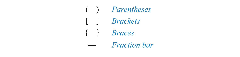 elementary algebra flatworld grouping symbols