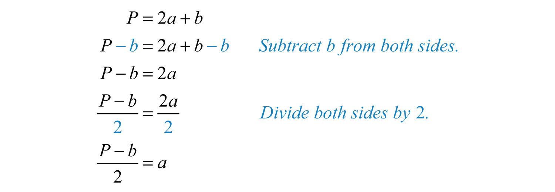 Elementary Algebra 10 – Literal Equations Worksheet