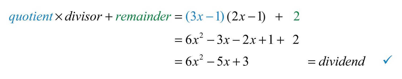Elementary Algebra 10 – Dividing Polynomials Worksheet