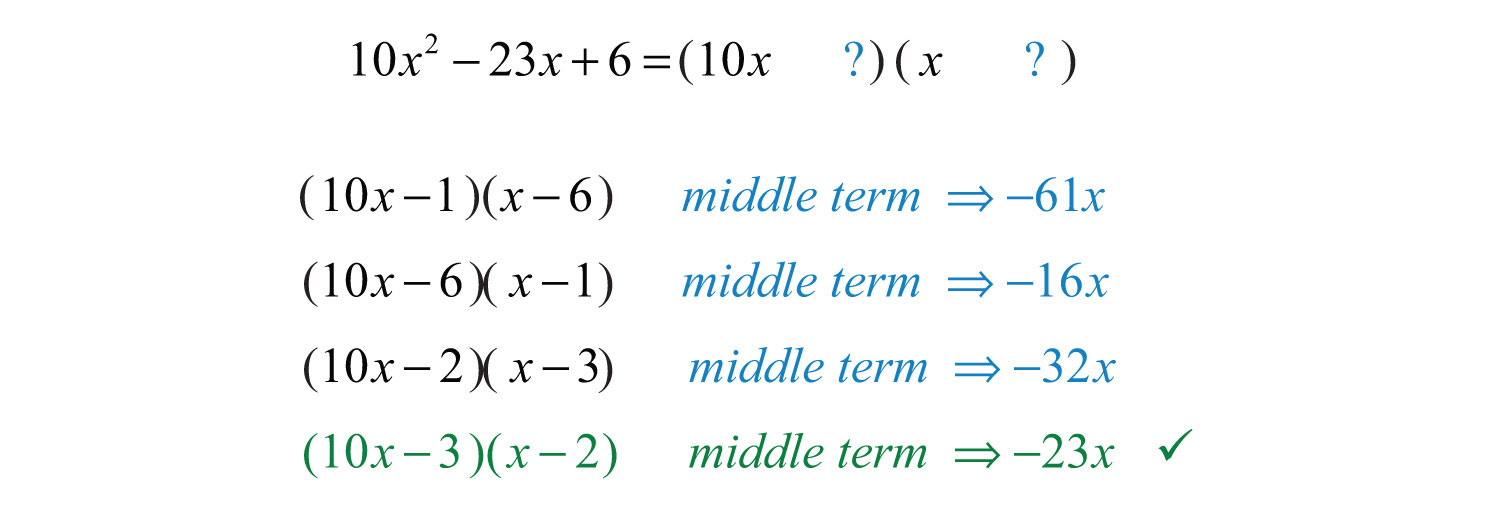 Worksheet Factoring Trinomials Of The Form Ax2 Bx C