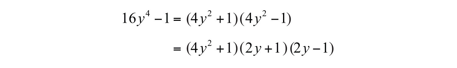 Elementary algebra 10 flatworld however 4 y 2 1 is a difference of squares and can be factored further ccuart Image collections