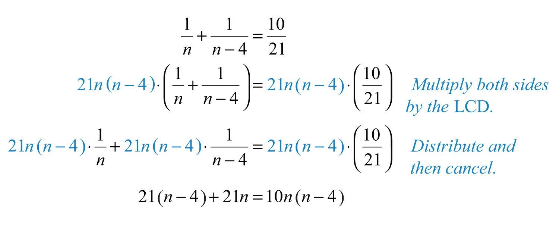 Elementary Algebra 10 – Rational Equations Worksheet