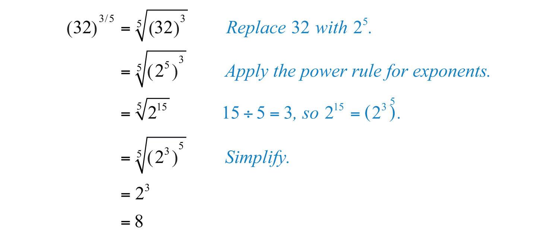 Elementary Algebra 10 – Properties of Rational Exponents Worksheet