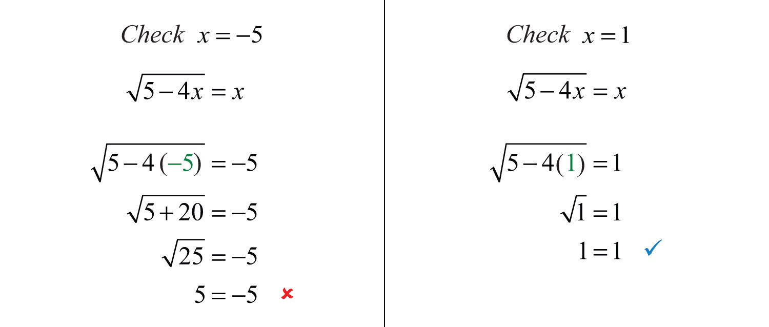 Elementary Algebra 10 – Solving Radical Equations Worksheet with Answers