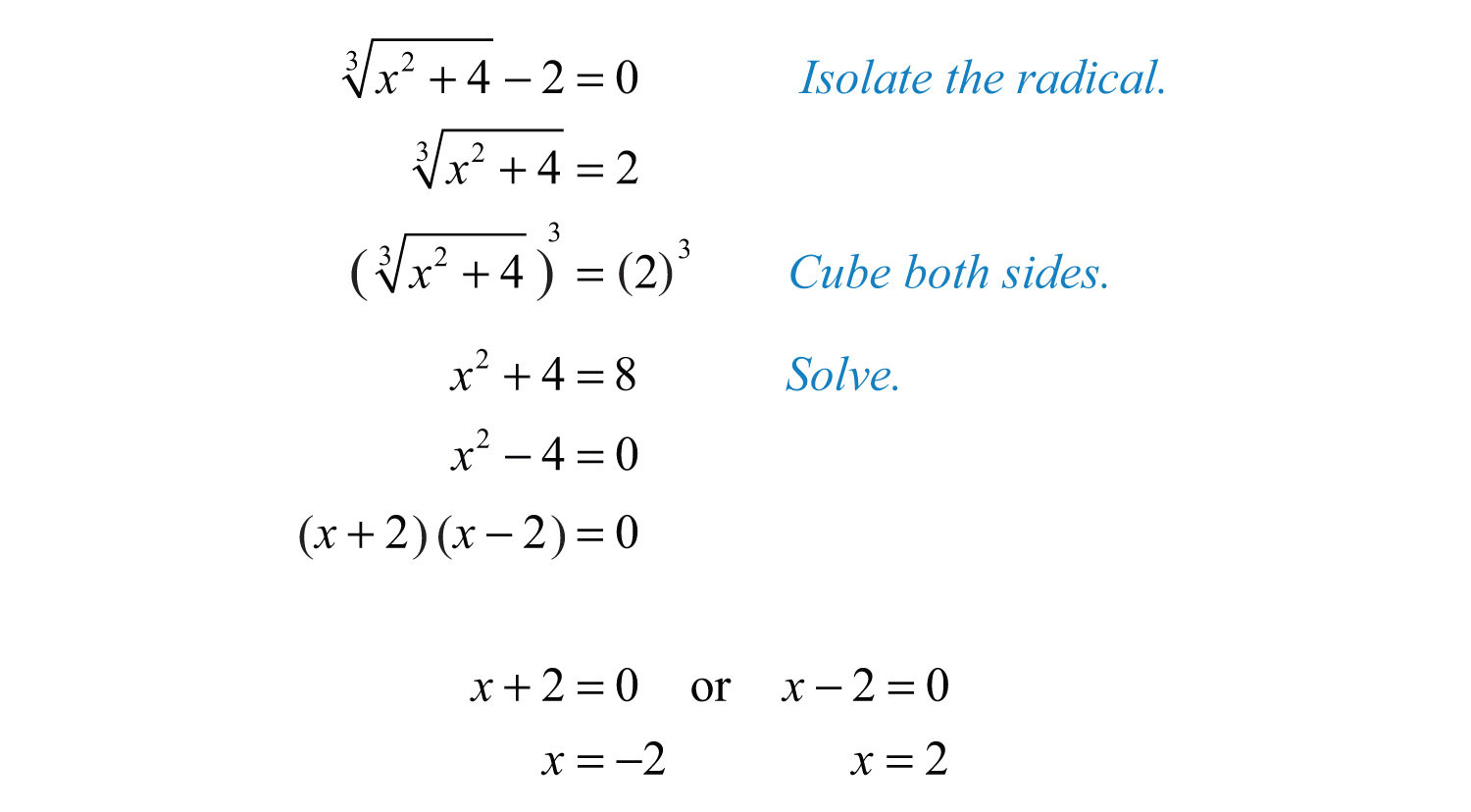 Solving Equations Examples Jennarocca – Solving Radical Equations Worksheet with Answers
