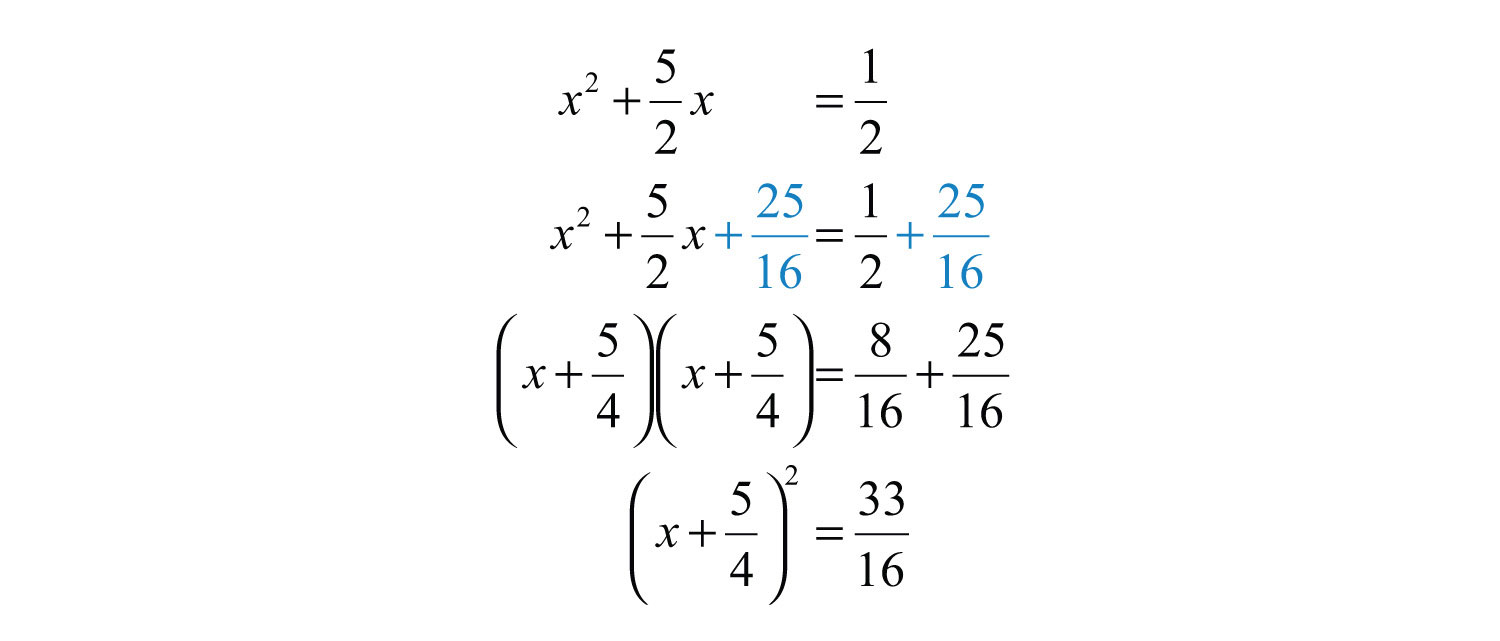 Elementary algebra 10 flatworld to complete the square add 2516 to both sides of the equation ccuart Image collections