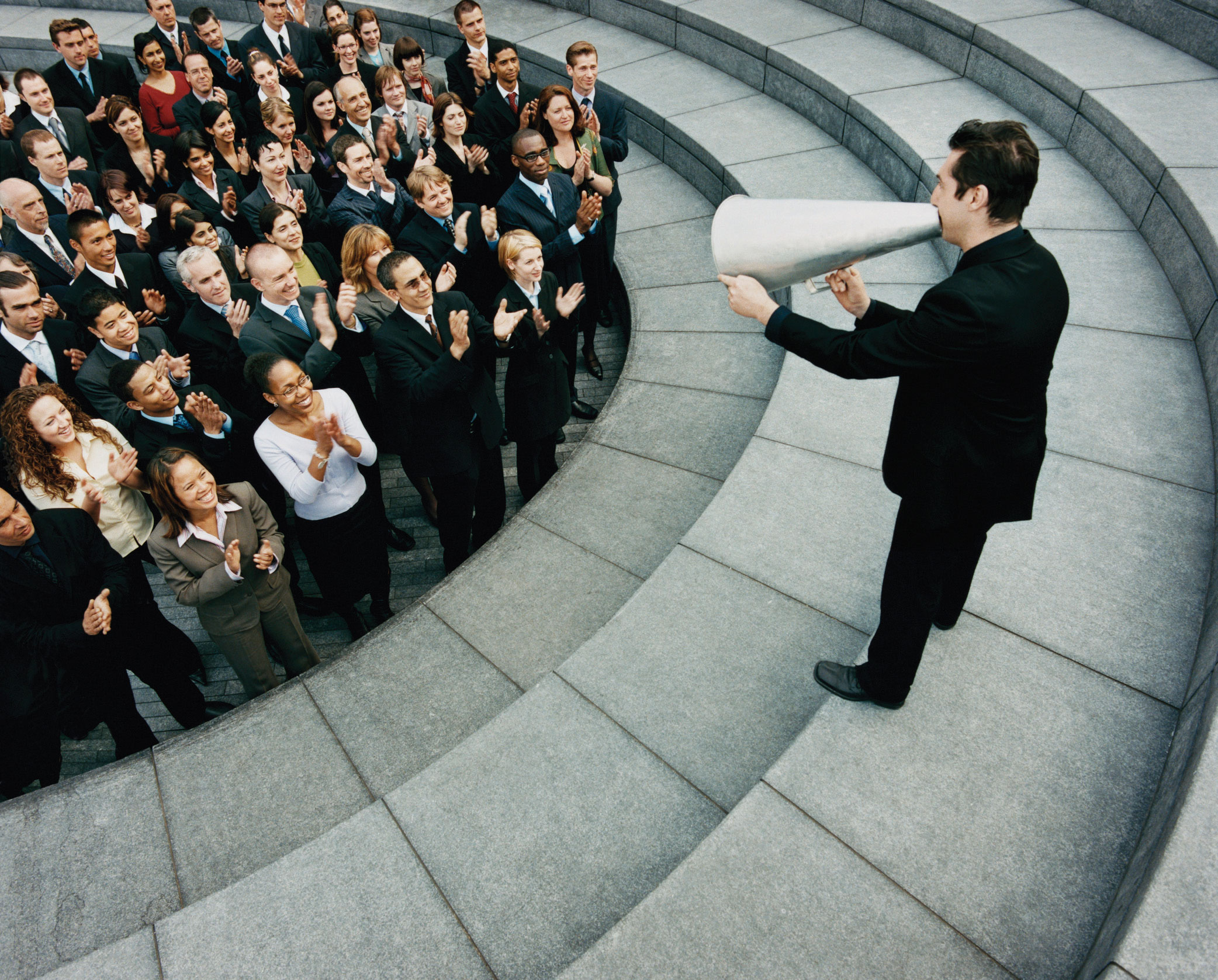 an evaluation of a public speakers confidence and ability to capture the crowd